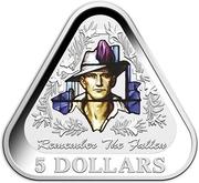5 Dollars - Elizabeth II (4th Portrait - Remember The Fallen - Silver Proof) -  reverse