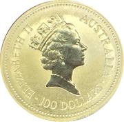 "100 Dollars - Elizabeth II (""Australian Nugget"" Gold Bullion Coinage) -  obverse"