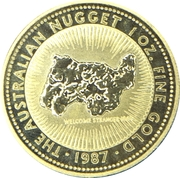 "100 Dollars - Elizabeth II (""Australian Nugget"" Gold Bullion Coinage) -  reverse"