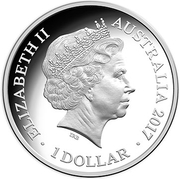 1 Dollar - Elizabeth II (4th Portrait - Year of the Rooster - Large Silver Proof) -  obverse