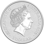 1 Dollar - Elizabeth II (4th Portrait - Alphabet Collection - Letter B - Silver Proof) -  obverse