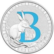 1 Dollar - Elizabeth II (4th Portrait - Alphabet Collection - Letter B - Silver Proof) -  reverse