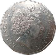 50 Cents - Elizabeth II (Year of the Outback) -  obverse