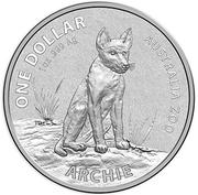 1 Dollar - Elizabeth II (Archie - Alpine Dingo) -  reverse