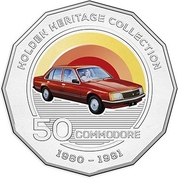 50 Cents - Elizabeth II (Holden VC Commodore) -  reverse