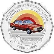 50 Cents - Elizabeth II (4th Portrait - 11 - Holden VC Commodore) -  reverse