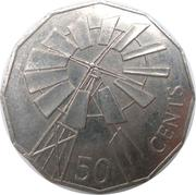 50 Cents - Elizabeth II (Year of the Outback) -  reverse