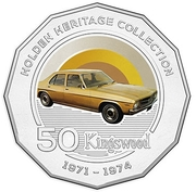 50 Cents - Elizabeth II (Holden HQ Kingswood) -  reverse