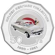 50 Cents - Elizabeth II (Holden FB) -  reverse
