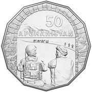 50 Cents - Elizabeth II (Afghanistan) -  reverse