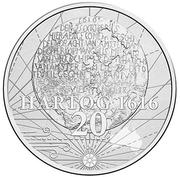 20 Cents - Elizabeth II (400th Anniversary of Dirk Hartog's Landfall) – reverse