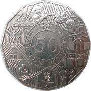 50 Cents - Elizabeth II (Volunteers) -  reverse