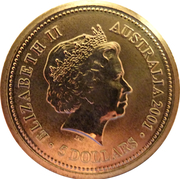 5 Dollars - Elizabeth II (Life of Sir Donald Bradman) -  obverse