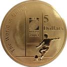 5 Dollars - Elizabeth II (Rugby World Cup) – reverse