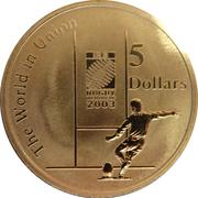 5 Dollars - Elizabeth II (Rugby World Cup) -  reverse