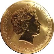 5 Dollars - Elizabeth II (Manchester Commonwealth Games 2002) – obverse