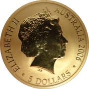 5 Dollars - Elizabeth II (400th Anniversary of Duyfken's Exploration of Australia) -  obverse