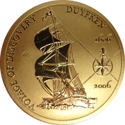 5 Dollars - Elizabeth II (400th Anniversary of Duyfken's Exploration of Australia) -  reverse
