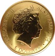 5 Dollars - Elizabeth II (4th Portrait - XVIII Commonwealth Games Melbourne 2006) – obverse