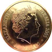 5 Dollars - Elizabeth II (4th Portrait - Australian Open Tennis 1905 - 2005) -  obverse