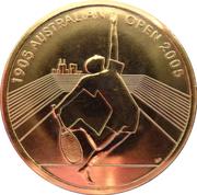 5 Dollars - Elizabeth II (4th Portrait - Australian Open Tennis 1905 - 2005) -  reverse