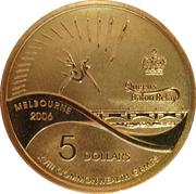 5 Dollars - Elizabeth II (4th Portrait - XVIII Commonwealth Games - Queen's Baton Relay) -  reverse