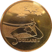 5 Dollars - Elizabeth II (3rd Portrait - International Year of Space) -  reverse
