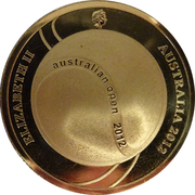 5 Dollars - Elizabeth II (100th Mens Champion Australian Open) -  obverse