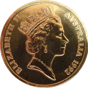 5 Dollars - Elizabeth II (3rd Portrait - International Year of Space) -  obverse