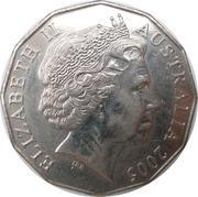 50 Cents - Elizabeth II (World War II Remembrance) -  obverse
