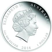 1 Dollar - Elizabeth II (4th Portrait - Year of the Horse - Colourised) -  obverse