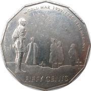 50 Cents - Elizabeth II (World War II Remembrance) -  reverse