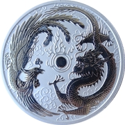 1 Dollar - Elizabeth II (4th Portrait - Dragon & Phoenix) – reverse