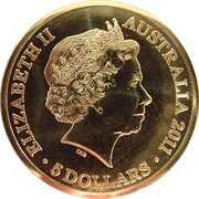 5 Dollar - Elizabeth II (Queen's Visit Commonwealth Heads of Government Meeting) -  obverse