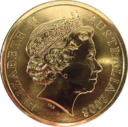 5 Dollar - Elizabeth II (100th Anniversary of Birth of Sir Donald Bradman) -  obverse