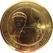 5 Dollar - Elizabeth II (100th Anniversary of Birth of Sir Donald Bradman) – reverse