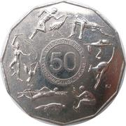 50 Cents - Elizabeth II (Commonwealth Games Melbourne 2006) – reverse