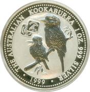 1 Dollar - Elizabeth II (4th Portrait - Australian Kookaburra - Square Penny Privy) -  reverse