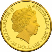 25 Dollars - Elizabeth II (Kangaroo at Sunset series) -  obverse