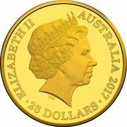25 Dollars - Elizabeth II (4th Portrait - Kangaroo at Sunset - Gold Bullion Coin) -  obverse