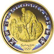 100 Dollars - Elizabeth II (2000 Sydney Olympics Preparation - Shot Put Coaching) -  reverse