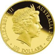 100 Dollars - Elizabeth II (2000 Sydney Olympics Preparation - Shot Put Coaching) -  obverse