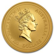 100 Dollars - Elizabeth II (3rd Portrait - Year of the Rat - Gold Bullion Coin) -  obverse