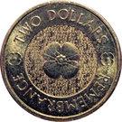 2 Dollars - Elizabeth II (Remembrance Day - Poppy Flower) – reverse