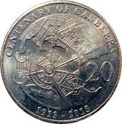 20 Cents - Elizabeth II (4th Portrait - Centenary of Canberra) -  reverse