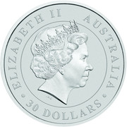 30 Dollars - Elizabeth II (4th Portrait - Koala - Silver Bullion Coin) -  obverse
