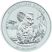 30 Dollars - Elizabeth II (4th Portrait - Koala - Silver Bullion Coin) -  reverse