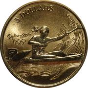 5 Dollars - Elizabeth II (Canoe/Kayak) -  reverse