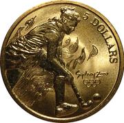 5 Dollars - Elizabeth II (Hockey) -  reverse
