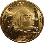 5 Dollars - Elizabeth II (Archery) -  reverse